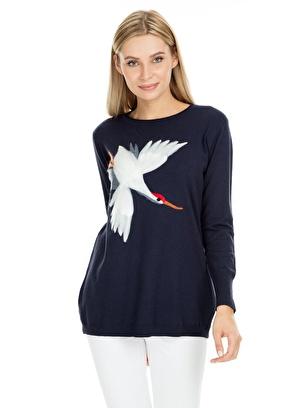 Fashion Friends Tunik Fashion-Friends-Kuş-Desenli-Tunik-Kadın